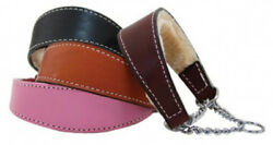 Auburn Leathercrafters QUALITY Shearling Lined Leather Martingale Dog Collars $42.00