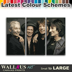 The Rolling Stones Music Icons Canvas Print Framed Photo Picture Wall Ar