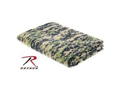 US Military Army USMC FOREST WOODLAND DIGITAL CAMO FLEECE COUCH TV CHAIR BLANKET