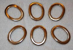 Clearance 6 gold metal oval Rings Ring Heavy Duty sewing craft supplies P31