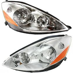 Headlight Set For 2006 2010 Toyota Sienna Left and Right With Bulb 2Pc $155.79