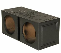 QPower QBOMB12V Dual 12quot; Vented Ported Subwoofer Sub Box with Bedliner Spray $82.49