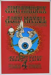 BG 105 Flying Eyeball Rick Griffin Silk Screen Poster + Original Plates 1989