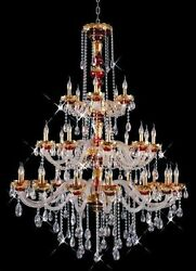 New Chandelier Alexandria Red w 24k Gold Plated 62x45 $3946.54