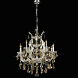 New  Crystal Chandelier Maria Theresa Chrome 13 Lts 27X26 $2,501.70