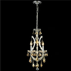 New Crystal Chandelier Maria Theresa Chrome 4 Lts 12x22 $434.40
