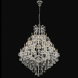 New Crystal Chandelier Maria Theresa Chrome 49Lts 46X62 $5,007.57