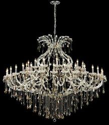 New Crystal Chandelier Maria Theresa Chrome 49Lts 72X60 $8280.74