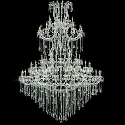 New Crystal Chandelier Maria Theresa Chrome 85 Lt 72X96 $12,294.61