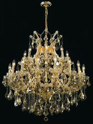 New! Crystal Chandelier Maria Theresa Gold 36X36 $2,508.65
