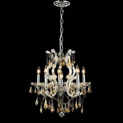 New Crystal Chandelier Maria Theresa Chrome 6Lts 20X25 $740.67