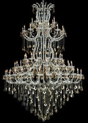 New Crystal Chandelier Maria Theresa Chrome 85 Lts 72x96 $12,772.46