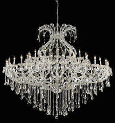 New Crystal Chandelier Maria Theresa Chrome 49 Lt 72X60 $7,401.11
