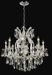 New Crystal Chandelier Maria Theresa Chrome 9 Lts 26X26 $1,322.76