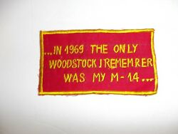 b4681 US Vietnam Novelty In 1969 The Only Woodstock I Remember Was My M IR4B $17.00