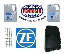 ZF Filter Kit & Oil Pan w Auto Trans Fluid 10-L w GA6HP19Z Transmission