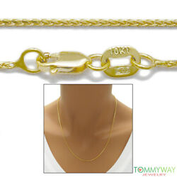 10K Yellow Gold Wheat Chain Necklace 1mm 16quot; 24quot; $123.48