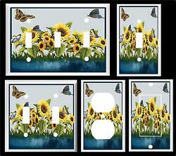 BUTTERFLY SUNFLOWER BY THE POND K1 LIGHT SWITCH COVER PLATE OR OUTLETS U PICK $6.29