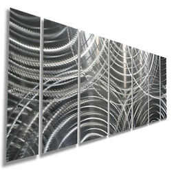 Abstract Modern 3D Metal Wall Art Silver Contemporary Decor by Jon Allen $250.00