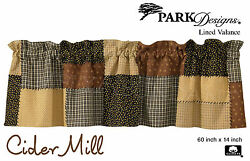 Cider Mill Valance by Park Designs Lined 60x14 Country Patchwork Pattern One