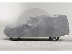 07-15 Jeep Wrangler New Gray Matrix® Car Cover w License Plate Window 4DR Mopar