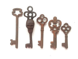 Antique Style Iron Skeleton Keys Lot of 5 B $11.99