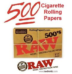 RAW 500#x27;s 1 1 4 Size Natural Cigarette Rolling Papers 500 LEAVES IN EACH PACK $8.88