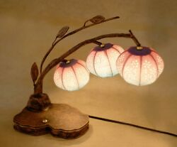 Paper Shade Lantern Table Decor Accent Bedroom Bedside Touch Art Deco Lamp Light $89.95