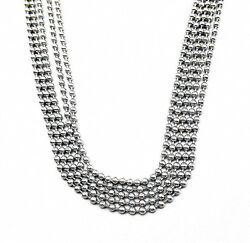 Wholesale Bulk Silver Tone Stainless Steel 2.4mm Ball Beads Necklace Chain 24