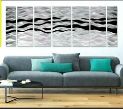 Contemporary Metal Wall Art LARGE Corporate Hospitality Art Black Silver $765.00