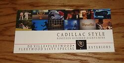 Original 1989 Cadillac De Ville & Fleetwood Exterior Color Selections Brochure