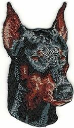 1 1 2quot; x 2 1 2quot; Ears Up Doberman Dog Breed Portrait Embroidery Patch $2.99