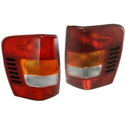 99-04 For Jeep Grand Cherokee Tail Brake Lights Lamps wCircuit Board Left+Right $60.89