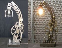Steampunk STEEL lamp and WOOD lamp patterns dxf format CNC files on CD $29.99