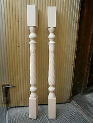 Spiral Twist Stair Balusters Carved Wood Spindles Banisters Staircase Railing
