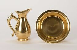 Classic Traditional Brass Ewer amp; Basin Set Lavabo Set Jug amp; Tray #314 $289.00