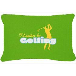 I Had Rather Be Golfing Man On Green Indoor & Outdoor Fabric Decorative Pillow