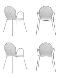 Cafe Chair Aluminum SET OF 4 Outdoor DWR Design Within Reach Modern Bistro