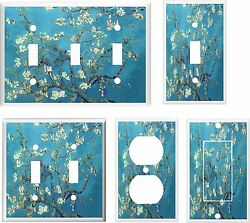 ALMOND BLOSSOMS VAN GOGH LIGHT SWITCH COVER PLATE  HOME DECOR  $6.19