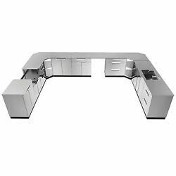 NewAge Products Stainless-steel 441-inch x 24-inch 17-piece Outdoor Kitchen