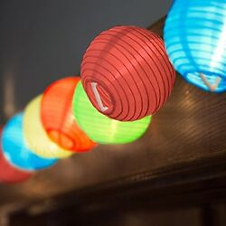 24 Multi Color Mini Nylon String Patio Lights - Extra Long Extendable Indoor - -