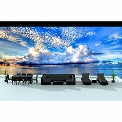 Urban Furnishing Black Series 19-piece Outdoor Dining and Sofa Sectional Patio F
