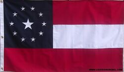 HEAVY DUTY 11 STAR COTTON FIRST NATIONAL FLAG SEWN STARS AND STRIPES 1ST DIXIE $52.00