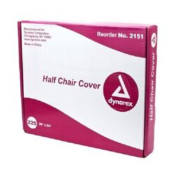 675 DENTAL CHAIR COVERS (HALF CHAIR) 28 x 24 CLEAR PLASTIC SLEEVES CASE OF 675