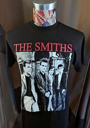 BRAND NEW THE SMITHS RED BAND NAME W  MORRISSEY BLACK ROCK T SHIRT