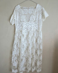 Péro White Fine Lace Dress size fr.40