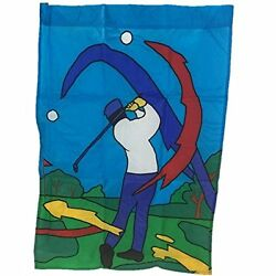 Golf Scene Decorative Outdoor Yard Flag Sports Nylon Multi-Color 27
