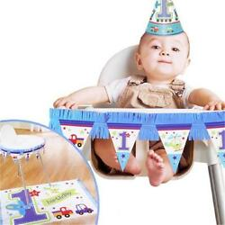 Amscan 240442 All Aboard 1st Birthday High Chair Decorating Kit Pack of 6