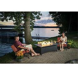 OutdoorGreatroom MG-1242-BLK-K Montego Fire Table with Free Burner Cover
