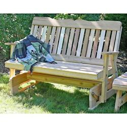 Countryside Cedar Wood Garden Glider Bench Rounded Sanded Edges No Finish 4'